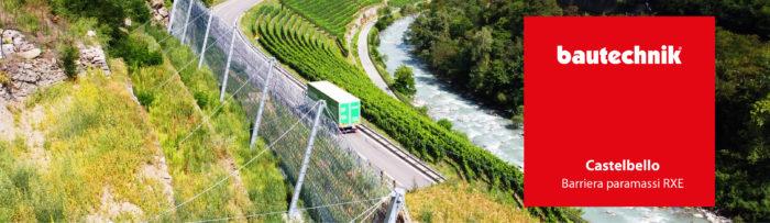 Barriera paramassi RXE – Castelbello